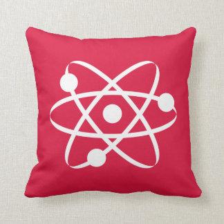 Crimson Red Atom Pillows
