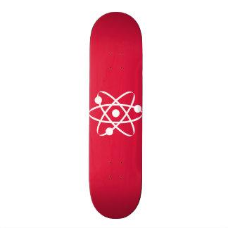 Crimson Red Atom Skateboard