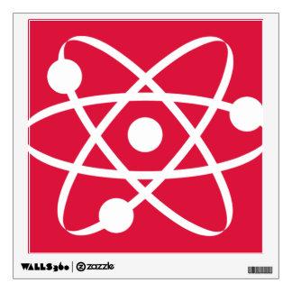 Crimson Red Atom Wall Stickers