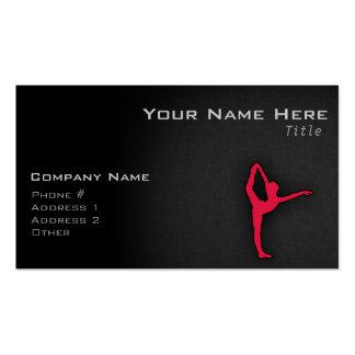 Crimson Red Ballet Dancer Business Card Templates