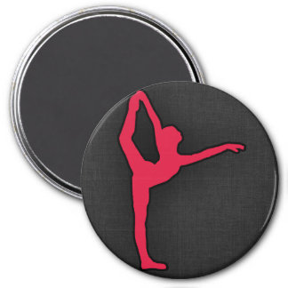 Crimson Red Ballet Dancer Magnet