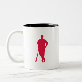 Crimson Red Baseball Coffee Mugs