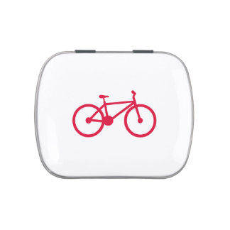Crimson Red Bicycle Candy Tins
