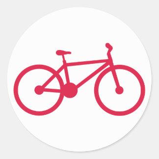 Crimson Red Bicycle Classic Round Sticker