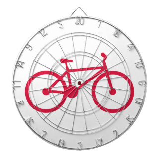 Crimson Red Bicycle Dart Board