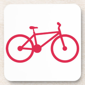 Crimson Red Bicycle Drink Coaster