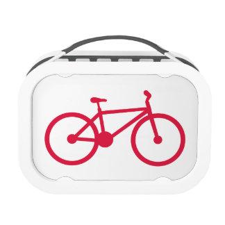 Crimson Red Bicycle Yubo Lunchbox