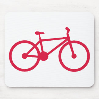 Crimson Red Bicycle Mousepad
