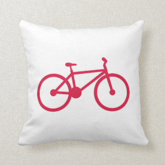 Crimson Red Bicycle Pillows