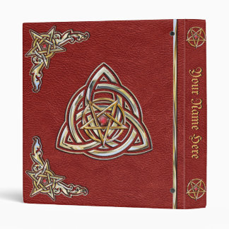 Crimson Red Book of Shadows Vinyl Binders