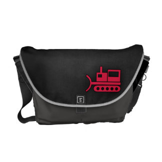 Crimson Red Bulldozer Courier Bags