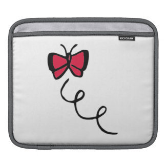 Crimson Red Butterfly Sleeve For iPads