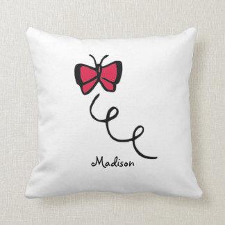 Crimson Red Butterfly Pillow