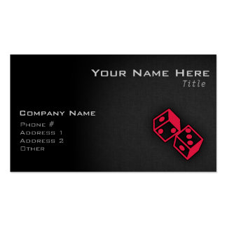 Crimson Red Casino Dice Double-Sided Standard Business Cards (Pack Of 100)