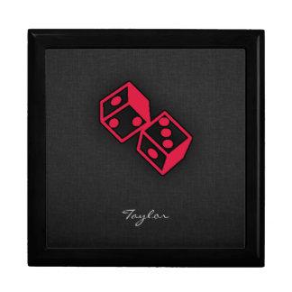 Crimson Red Casino Dice Gift Box