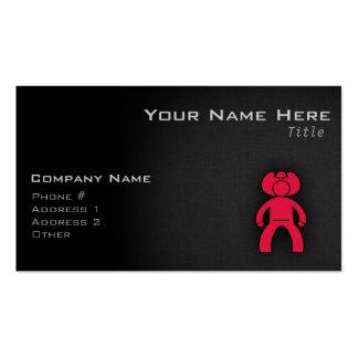 Crimson Red Cowboy Business Card