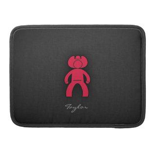 Crimson Red Cowboy MacBook Pro Sleeves