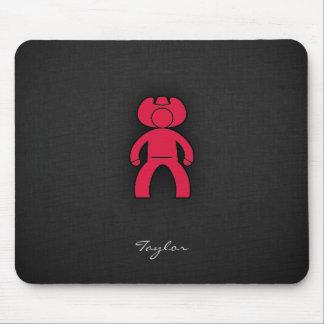 Crimson Red Cowboy Mouse Pad