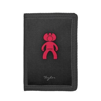Crimson Red Cowboy Tri-fold Wallets