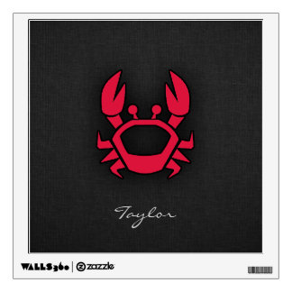 Crimson Red Crab Wall Decal
