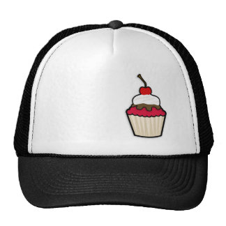 Crimson Red Cupcake Mesh Hat