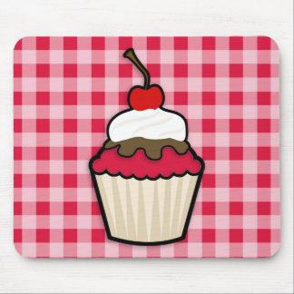 Crimson Red Cupcake Mouse Pad