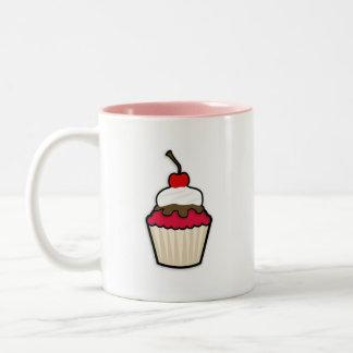 Crimson Red Cupcake Mug