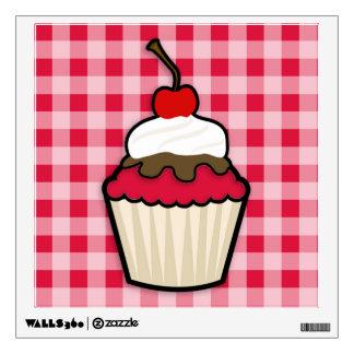 Crimson Red Cupcake Wall Sticker