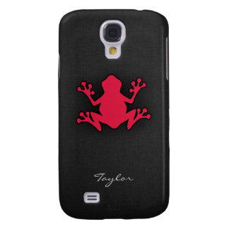 Crimson Red Frog Samsung Galaxy S4 Cases