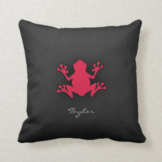 Crimson Red Frog Pillows