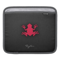Crimson Red Frog Sleeve For iPads