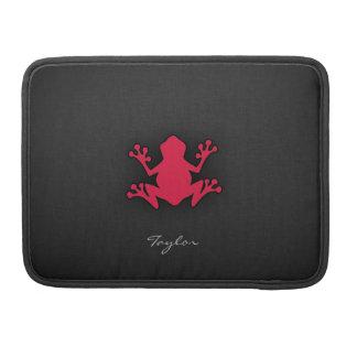 Crimson Red Frog Sleeve For MacBook Pro