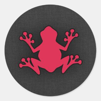 Crimson Red Frog Round Stickers