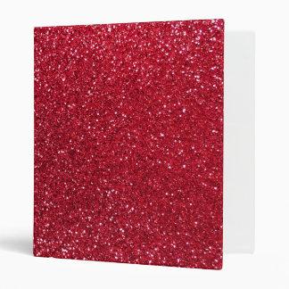 Crimson red glitter binder