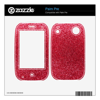 Crimson red glitter palm pre decals