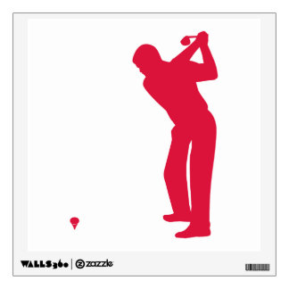 Crimson Red Golf Wall Decal
