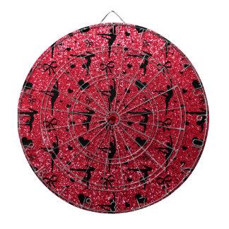 Crimson red gymnastics glitter pattern dart boards