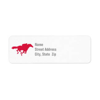 Crimson Red Horse Racing Label