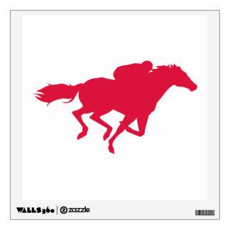 Crimson Red Horse Racing Wall Skins