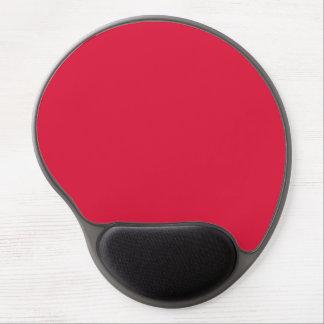 Crimson Red Hot Pink Solid Trend Color Background Gel Mouse Pad