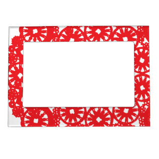 Crimson Red lace Magnetic Photo Frame