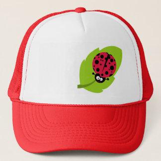 Crimson Red Ladybug Trucker Hat