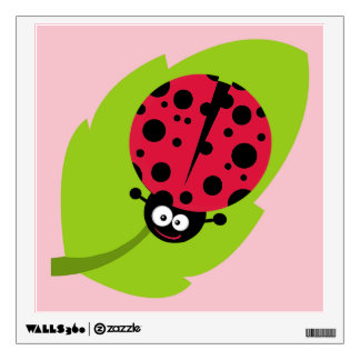 Crimson Red Ladybug Wall Stickers