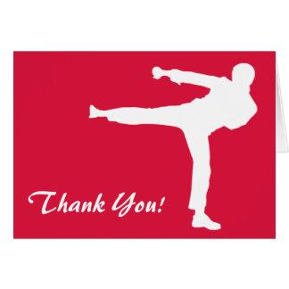 Crimson Red Martial Arts Card
