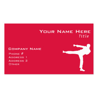 Crimson Red Martial Arts Double-Sided Standard Business Cards (Pack Of 100)