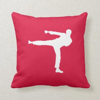Crimson Red Martial Arts Throw Pillows