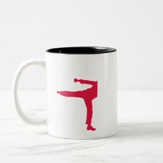 Crimson Red Martial Arts Two-Tone Coffee Mug
