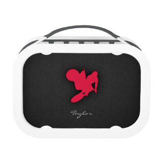 Crimson Red Motocross Yubo Lunch Boxes