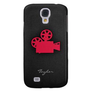 Crimson Red Movie Camera Galaxy S4 Case