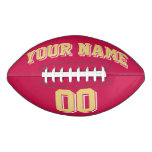 CRIMSON RED OLD GOLD AND WHITE Custom Football